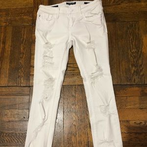 Vigoss White Distressed Skinny Jeans